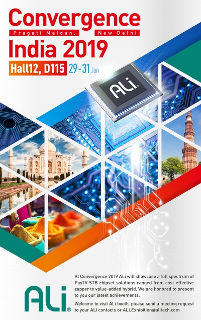 Welcome to visit ALi Booth at Convergence India 2019